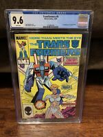 Transformers #9 CGC 9.6 NM+ 1st Appearance of Circuit Breaker WHITE PAGES