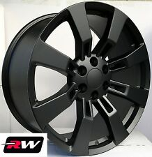 "20"" inch 20 x9"" Wheels for Chevy Avalanche Satin Black Rims Denali CK375"