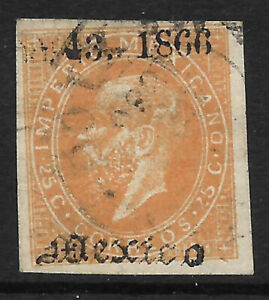 """MEXICO - 1866, MAXI, 43-1866, MEXICO - USED - """"1"""" INSTEAD OF """"4"""" - $12.00"""