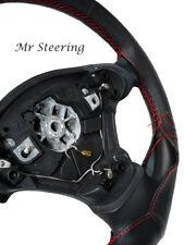 Pour Fiat Ducato Van MK2 qualité en cuir noir volant couvrir rouge st