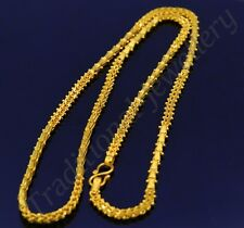 22KARAT YELLOW GOLD UNIQUE TRADITIONAL DESIGN HANDMADE NECKLACE AWESOME CHAIN