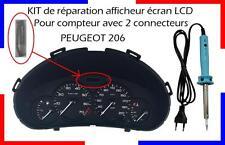 KIT de réparation compteur ECRAN LCD pour une PEUGEOT 206 !!