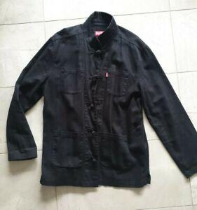 Supreme Mandarin collar jacket M hoodie coat Jacket black red kung fu