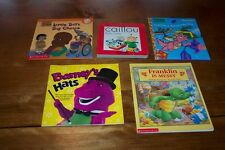 MIXED  CHARACTERS BOOK LOT Caillou Barney Little Bill