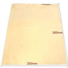 1Pc New Brass Metal Thin Sheet Foil 0.2x200x300mm For Handicraft Aerospace
