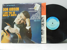 Don Gibson LP I Love You So Much It Hurts   Camden VG
