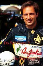 Elio de Angelis JPS Lotus F1 1985 fotografía de retrato