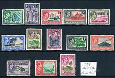 BRITISH SOLOMON ISLANDS 1939 Multiples, Multi-coloured SG60/72 fine mint