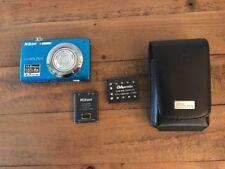 """Nikon COOLPIX S3000 12.0MP Digital Camera - Blue 2.7"""" Screen 2 Batteries"""