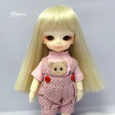 "Mimi Collection Hujoo Baby Suve 4-5"" Heat Resistant Long Straight Bjd Wig Blonde"