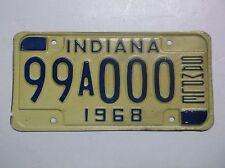 1968 Indiana SAMPLE ZERO License Plate Auto Tag decor Gas Oil Sign