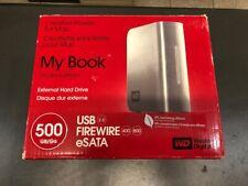 WESTERN DIGITAL My Book Studio 500GB External Hard Drive WD5000H1Q-00 MAC or PC