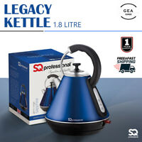 1.8L Electric Cordless Stainless Steel Kettle Quick Boil Dry Protection Blue