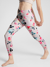 ATHLETA WOMEN'S 487673 PAINTED FLOWER ELATION 7/8 TIGHT PANT $89.00 M