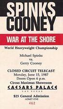 Michael Spinks Vs Gerry Cooney Used Vintage Ticket Stub Caesars Palace Rare