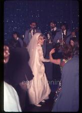Wedding Reception Bride Dancing Boogies to Band Vintage 1972 Slide Photo