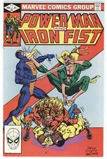 MARVEL Comics POWER MAN and IRON FIST #84 Comic Book VF/NM 4th App of Sabretooth