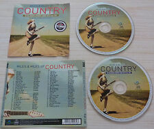 2 CD album MILES & MILES OF COUNTRY COMPILATION 50 TITRES 2012