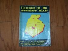 VINTAGE FREDERICK COUNTY MD ADC STREET MAP  1979