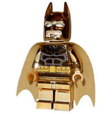 **NEW** LEGO Custom Printed - CHROME GOLD BATMAN - DC Universe Minifigure