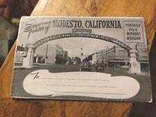 SOUVENIR POSTCARD FOLDER OF MODESTO CALIFORNIA  Un-posted