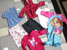 NEW LOT 7 BABY GIRL CLOTHING 6 MONTHS CARTERS MISC PANTS TOPS FREE SHIP