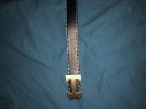 Black hermes belt
