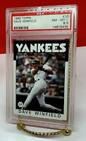 1986 Dave Winfield Topps #70 PSA 8.5 NM-MT+ New York Yankees Hall of Famer 2001