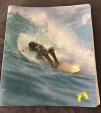 RARE vintage 1970's Hang Ten Surfer  School Folder 3 ring binder rare feet logo