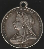 1897 Victoria Diamond Jubilee Silver Medal By Vaughan & Sons | Pennies2Pounds