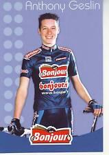 CYCLISME carte cycliste ANTHONY GESLIN équipe  BONJOUR.fr 2002