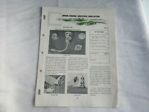 1956 John Deere service bulletin brochure 620 720 820 tractor radiator cap test