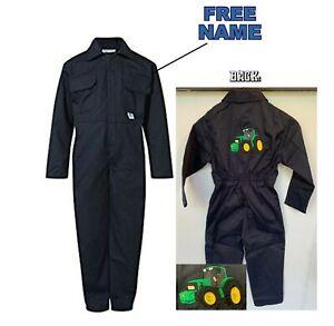 Kids John Deere Tractor Logo Junior Coverall Overall Boilersuit John Deere kids