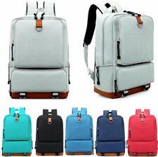 Women Canvas Backpack School Travel Rucksack Laptop Satchel Shoulder Bag Unise