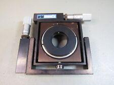 Ardel Kinamatic 2-Axis Adjustable Gimbal Optic Mount w/ Dual Starrett Actuators