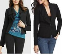 CAbi Women's Size Medium Long Sleeve One Button Black Absolute Blazer Jacket