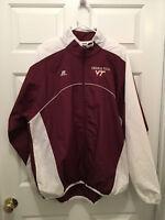 Virginia Tech VT Hokies Russell Athletic Men's Full Zip Maroon Jacket Large