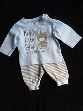 Baby clothes BOY 0-3m outfit L/S top/striped trousers bear/cars SEE SHOP COMBINE