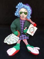 HALLMARK SHOEBOX MAXINE BAH HUMBUG CHRISTMAS SHOPPING CLOTH DOLL SHELF SITTER