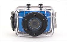 Action Waterproof Camera HD 720P For Sport Car Helmet DV Bike Cam FREE BAG Blue
