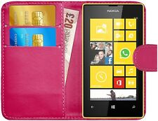 G-Shield® Luxury Leather Magnetic Flip Wallet Case Cover For Nokia Lumia 520