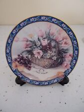 "Cp038 1992 Lena Liu's Basket Bouquet ""Parrot Tulips"" Ltd Edition Collector Plate"