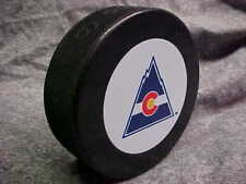 NHL Vintage Colorado Rockies Logo In GlasCo Official Souvenir Hockey Puck