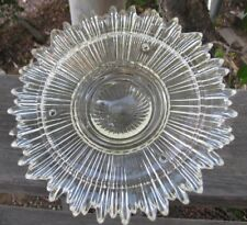 Vintage Art Deco Ceiling Glass Lamp Shade, Starburst, 3 Holes
