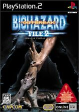 Resident Evil Outbreak FILE2 Japan Sony Playstasion 2 F/S