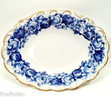 "HEIRLOOM BLUE  by Schumann Bavaria Oval Serving Vegetable Bowl 10"" +/- Minty!"