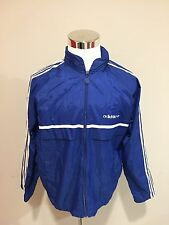 Rare Vintage 80's Adidas Classic Track Windbreaker Jacket Sz Large