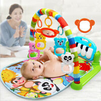 Baby Gym Play Mat Lay & Play 3 in 1 Fitness Music And Lights Fun Piano Boy Girl