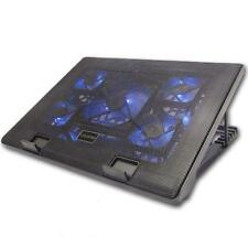 LAPTOP NOTEBOOK COOLING COOLER 5 FAN BLUE LED MULTI TILT STAND to FIT 12-17 Inch