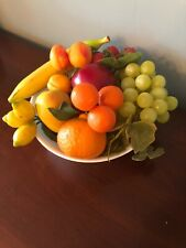 12 Vintage Artificial Fruit Faux Fake Realistic Apple Banana Pear Orange Grapes